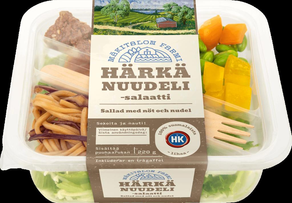 Mäkitalon Farmin Härkä-nuudelisalaatti